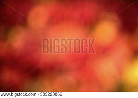 Colorful Season. Beautiful Autumn Background. Defocused Blurred Autumn Leaves Backdrop. Fall Season