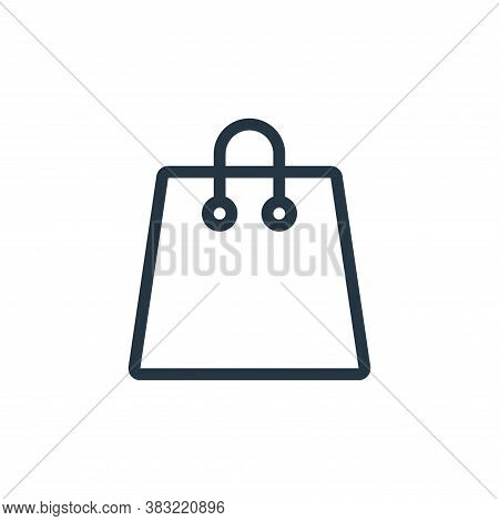 shopping bag icon isolated on white background from ecommerce shopping collection. shopping bag icon
