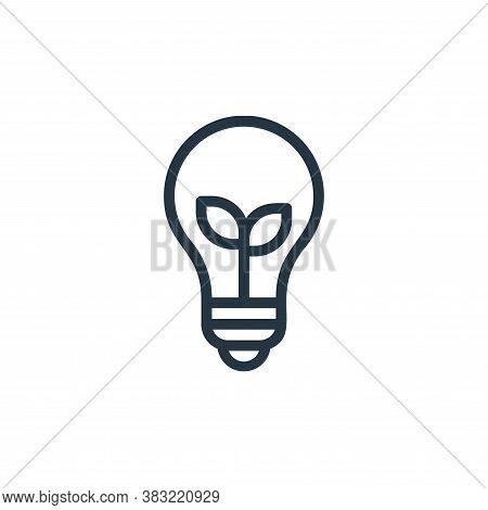 idea icon isolated on white background from ecology line collection. idea icon trendy and modern ide