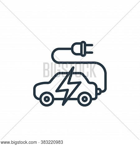 eco car icon isolated on white background from ecology collection. eco car icon trendy and modern ec