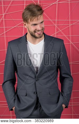 Business Meeting. Sexy Man In Stylish Jacket. Business Fashion And Dress Code. Confident Businessman