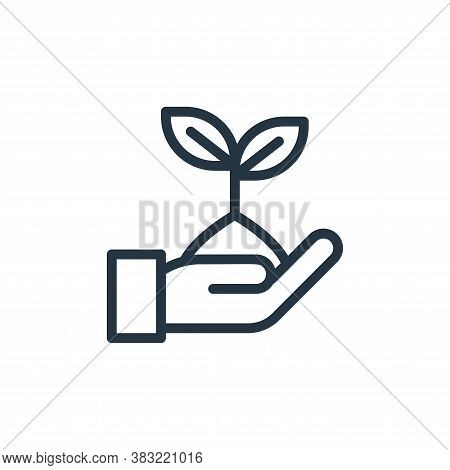 plant leaf icon isolated on white background from ecology line collection. plant leaf icon trendy an