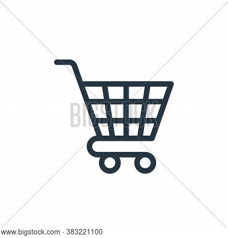 cart icon isolated on white background from ecommerce shopping collection. cart icon trendy and mode