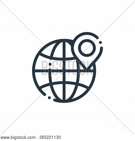 location icon isolated on white background from travel and adventure collection. location icon trend