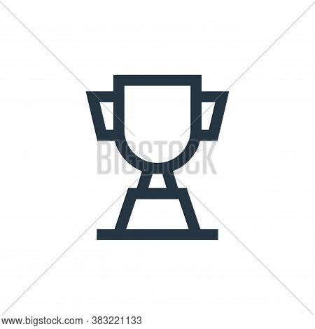 trophy icon isolated on white background from sports collection. trophy icon trendy and modern troph