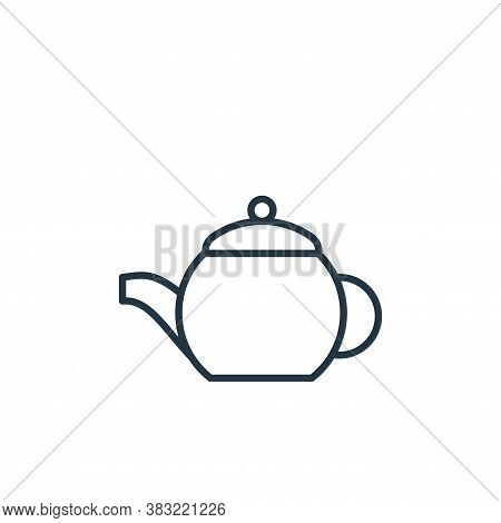 teapot icon isolated on white background from kitchen collection. teapot icon trendy and modern teap