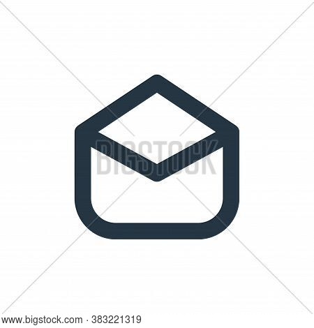 open mail icon isolated on white background from email collection. open mail icon trendy and modern