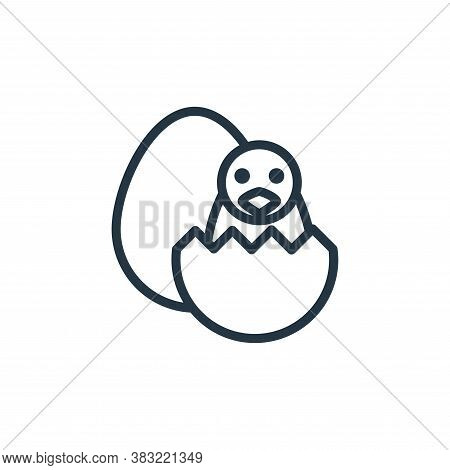 small chick icon isolated on white background from spring collection. small chick icon trendy and mo