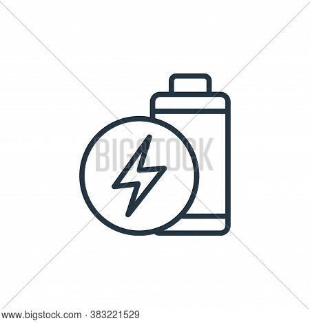 battery icon isolated on white background from ecology collection. battery icon trendy and modern ba