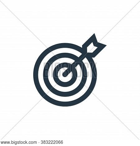 target icon isolated on white background from marketing collection. target icon trendy and modern ta