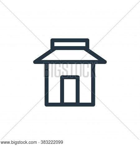 store icon isolated on white background from finance bank collection. store icon trendy and modern s