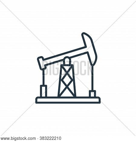 oil mining icon isolated on white background from oil industry collection. oil mining icon trendy an