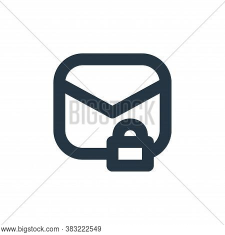safe mail icon isolated on white background from email collection. safe mail icon trendy and modern