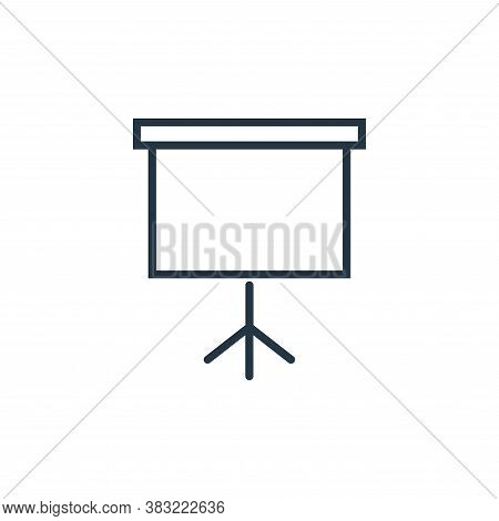 projector screen icon isolated on white background from smart devices collection. projector screen i