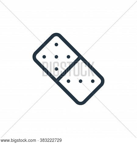 domino icon isolated on white background from old age collection. domino icon trendy and modern domi