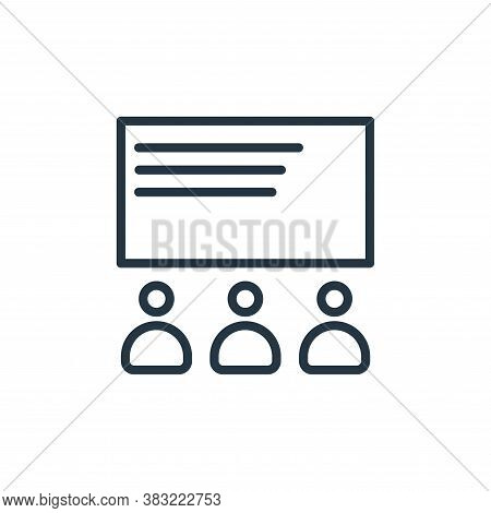 classroom icon isolated on white background from school and education line collection. classroom ico