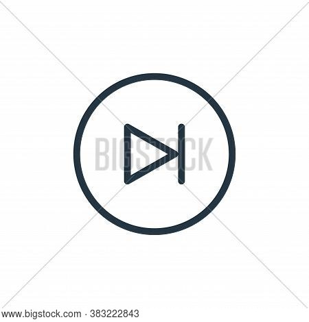 next track icon isolated on white background from media player collection. next track icon trendy an