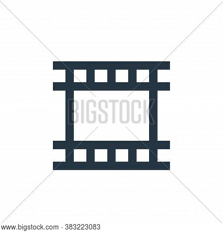 video file icon isolated on white background from photography collection. video file icon trendy and