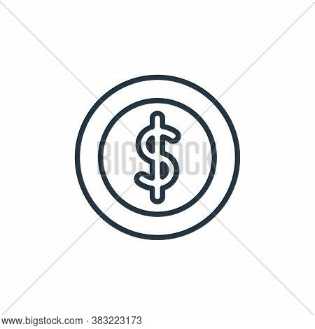 dollar icon isolated on white background from finance collection. dollar icon trendy and modern doll