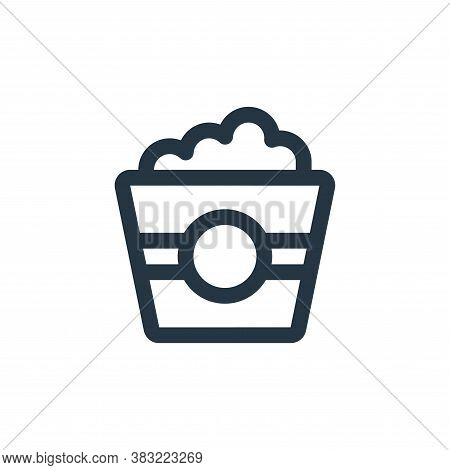popcorn icon isolated on white background from restaurant collection. popcorn icon trendy and modern