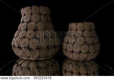 Handmade Cones Flower Vase Models;natural Handmade Items