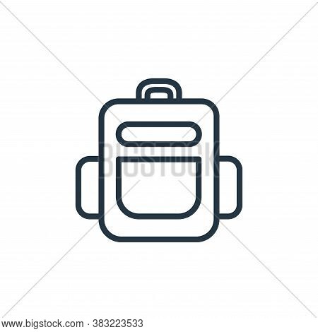 bag icon isolated on white background from school and education line collection. bag icon trendy and
