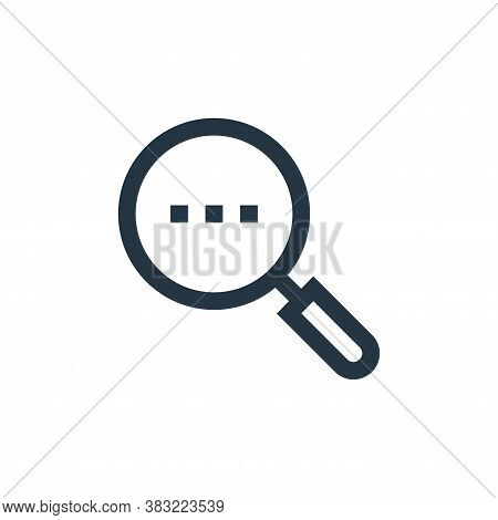 search results icon isolated on white background from network collection. search results icon trendy