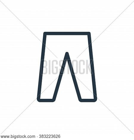 trousers icon isolated on white background from shopping collection. trousers icon trendy and modern