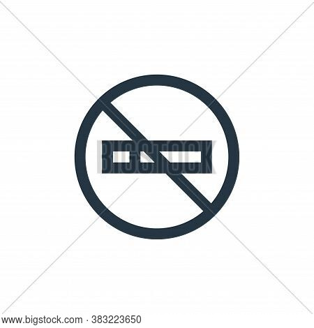 no smoking icon isolated on white background from restaurant collection. no smoking icon trendy and