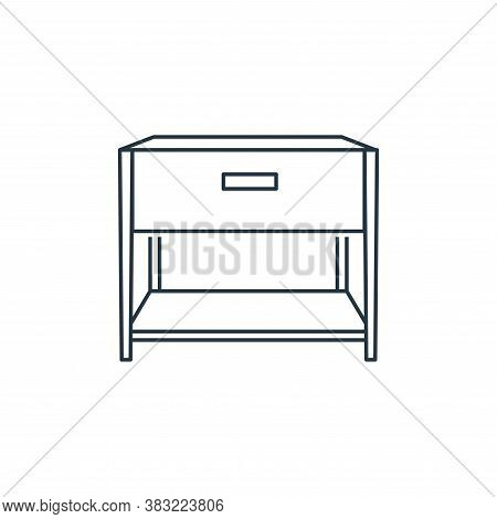 bedside table icon isolated on white background from household collection. bedside table icon trendy