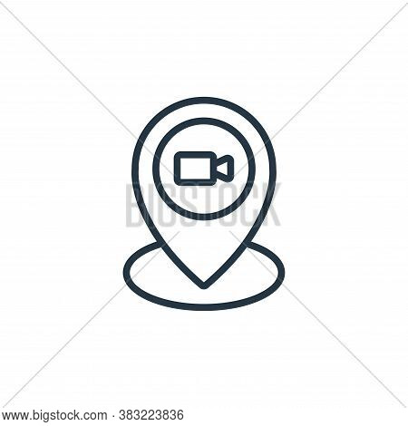 location icon isolated on white background from news and journal collection. location icon trendy an