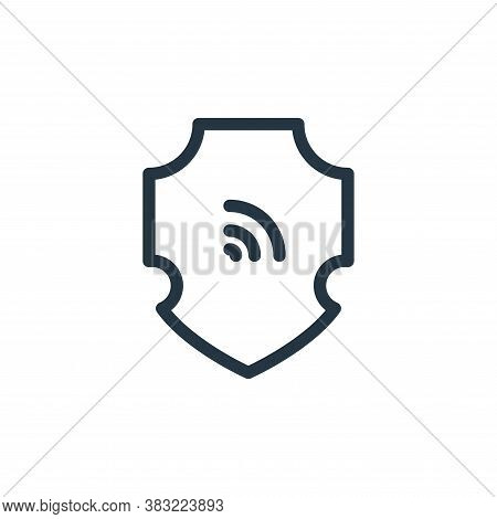 firewall icon isolated on white background from marketing and entertainment collection. firewall ico