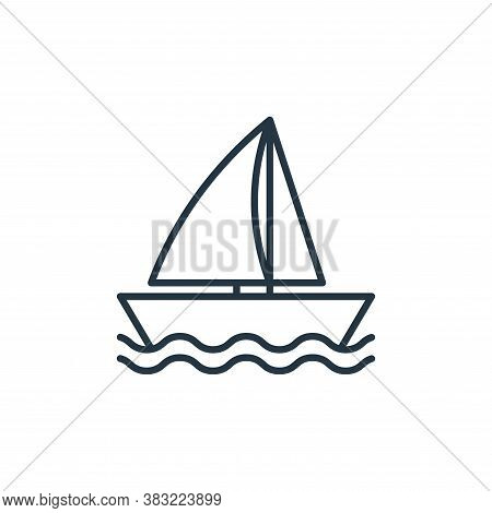 boat icon isolated on white background from travel collection. boat icon trendy and modern boat symb