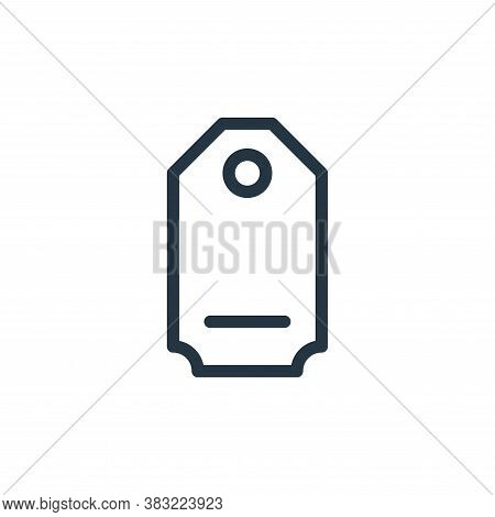 tag icon isolated on white background from shopping collection. tag icon trendy and modern tag symbo