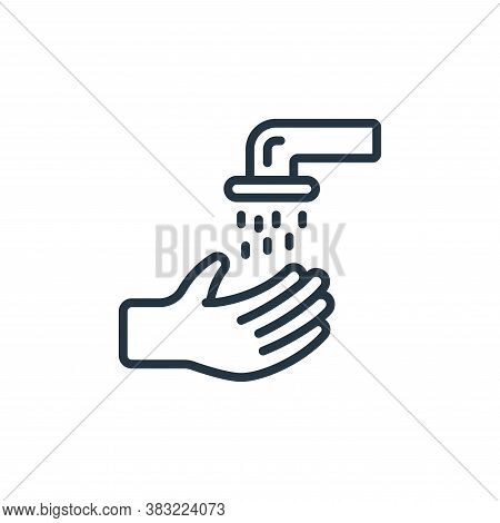WASHING HANDS icon isolated on white background from ramadan collection. WASHING HANDS icon trendy a