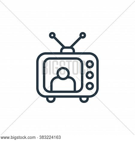 television icon isolated on white background from news and journal collection. television icon trend