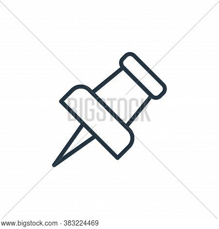 pin icon isolated on white background from school and education line collection. pin icon trendy and