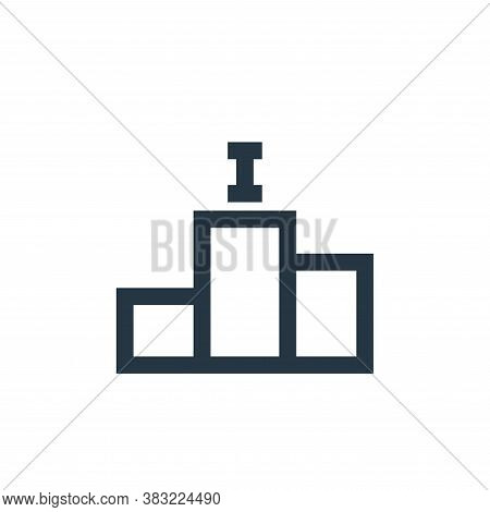 podium icon isolated on white background from sports collection. podium icon trendy and modern podiu