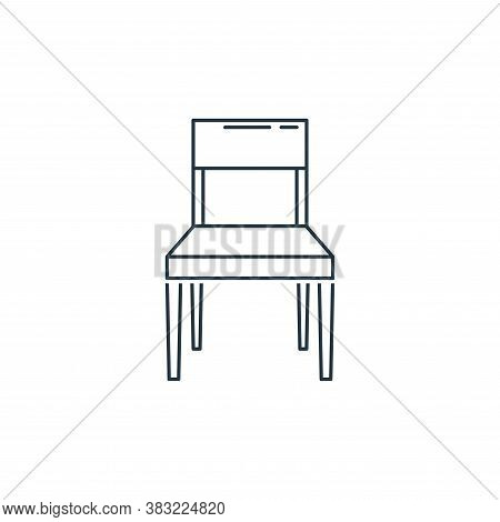 chair icon isolated on white background from household collection. chair icon trendy and modern chai