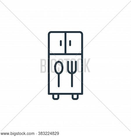 cupboard icon isolated on white background from kitchen collection. cupboard icon trendy and modern