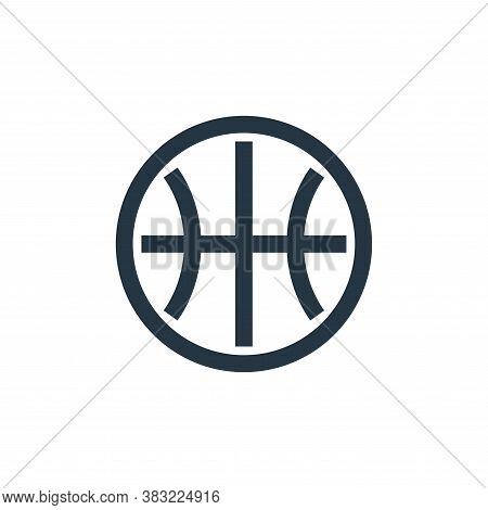 basketball ball icon isolated on white background from sports collection. basketball ball icon trend