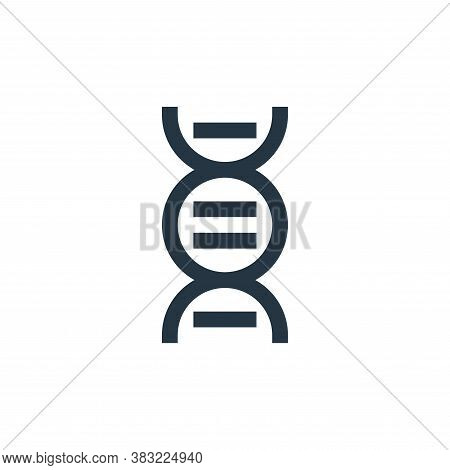 dna icon isolated on white background from science collection. dna icon trendy and modern dna symbol