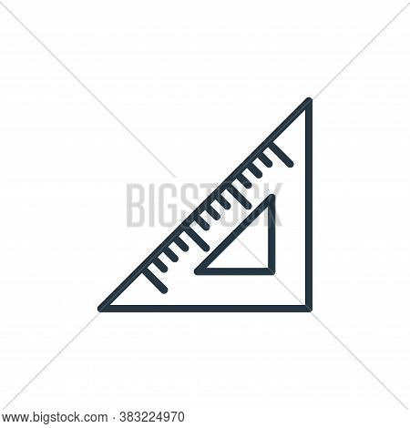 triangular ruler icon isolated on white background from school and education line collection. triang