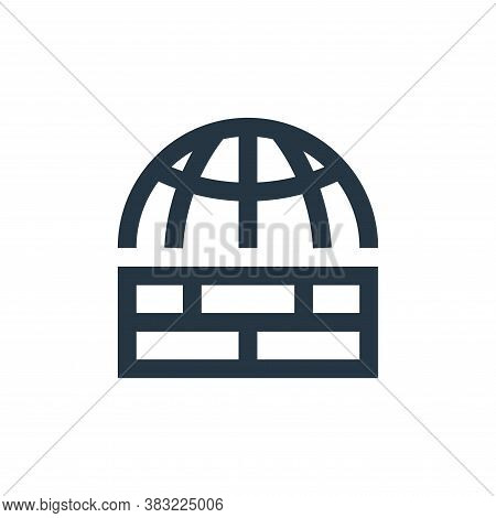 firewall icon isolated on white background from network collection. firewall icon trendy and modern