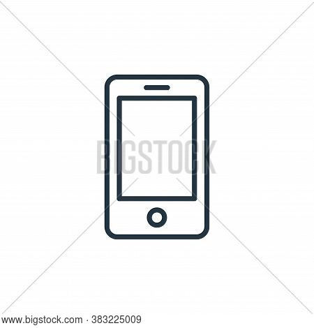 phone icon isolated on white background from smart devices collection. phone icon trendy and modern