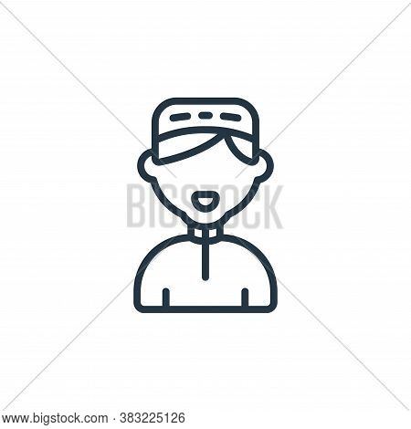 boy icon isolated on white background from ramadan collection. boy icon trendy and modern boy symbol