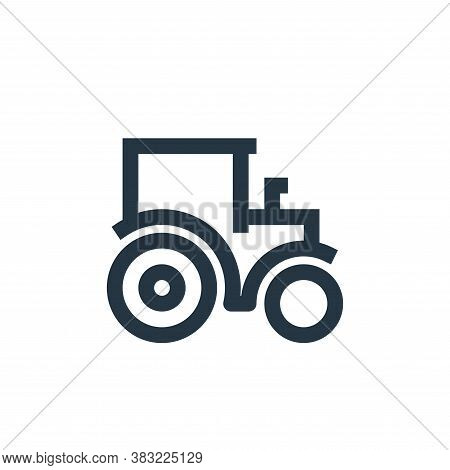 tractor icon isolated on white background from nature collection. tractor icon trendy and modern tra