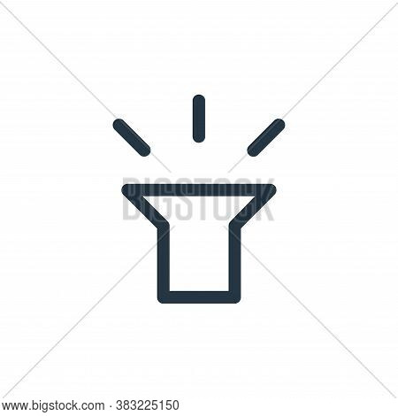 torch icon isolated on white background from smartphone ui ux part collection. torch icon trendy and