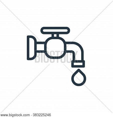 save water icon isolated on white background from ecology line collection. save water icon trendy an