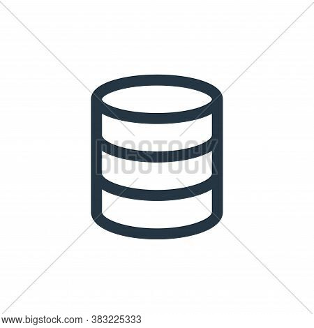 database icon isolated on white background from network collection. database icon trendy and modern